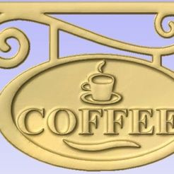 Download free 3D printer designs Coffee Sign, cult99