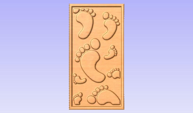 Feet1.jpg Download free STL file Decor Panel • 3D printer model, Cult99