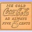 Download free 3D printer files Old Coke Sign, cult99