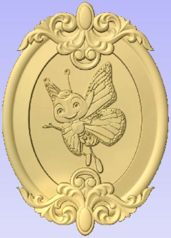 Bee.jpg Download free STL file Fantasy Bee in Frame • 3D printer object, Cult99