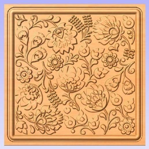 Download free 3D printing templates Floral Design, Cult99