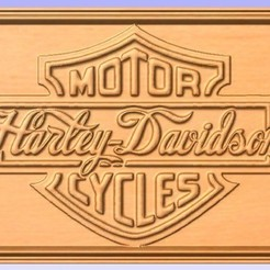 Download free 3D printing templates Harley Sign, cult99