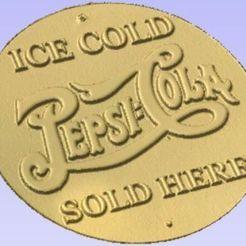 Télécharger STL gratuit Signe Pepsi Cola, Cult99