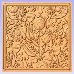 Floral.jpg Télécharger fichier STL gratuit Panneau floral • Plan pour impression 3D, Cult99