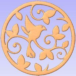 Descargar STL gratis Pájaro en círculo, Cult99