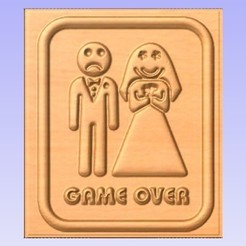 Download free 3D printing templates Game Over, cult99