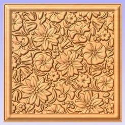 Flowers.jpg Télécharger fichier STL gratuit Panneau mural • Plan pour imprimante 3D, Cult99
