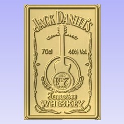 Descargar STL gratis Jack Daniels Whiskey, Cult99