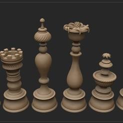 Descargar archivos STL piezas de ajedrez Chess , Serendipia
