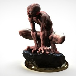 gollum002.jpg Download STL file Gollum - The Hobbit - The Lord of the Rings • 3D print template, Serendipia