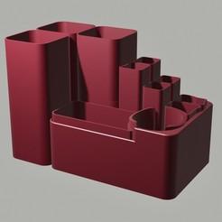 Descargar modelo 3D organizador de escritorio modular, endlesspoland