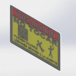 Descargar modelos 3D gratis Dont touch sign (spanish), JefTeck