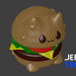 Catburguer_Process5.png Download STL file Cat-Burguer • 3D printing object, JefTeck