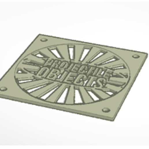 Download free 3D printing files Projectile Objects 80MM computer fan cover, projectileobjects
