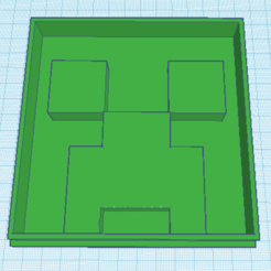 Télécharger STL gratuit Coupe-biscuits Minecraft Creeper, waymanhyrum542