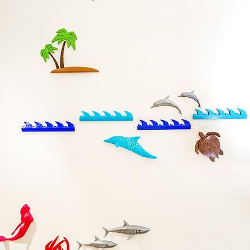 DSC00615.JPG Download free STL file Marine Life Wall Project • 3D printer template, Double_Alfa_3D