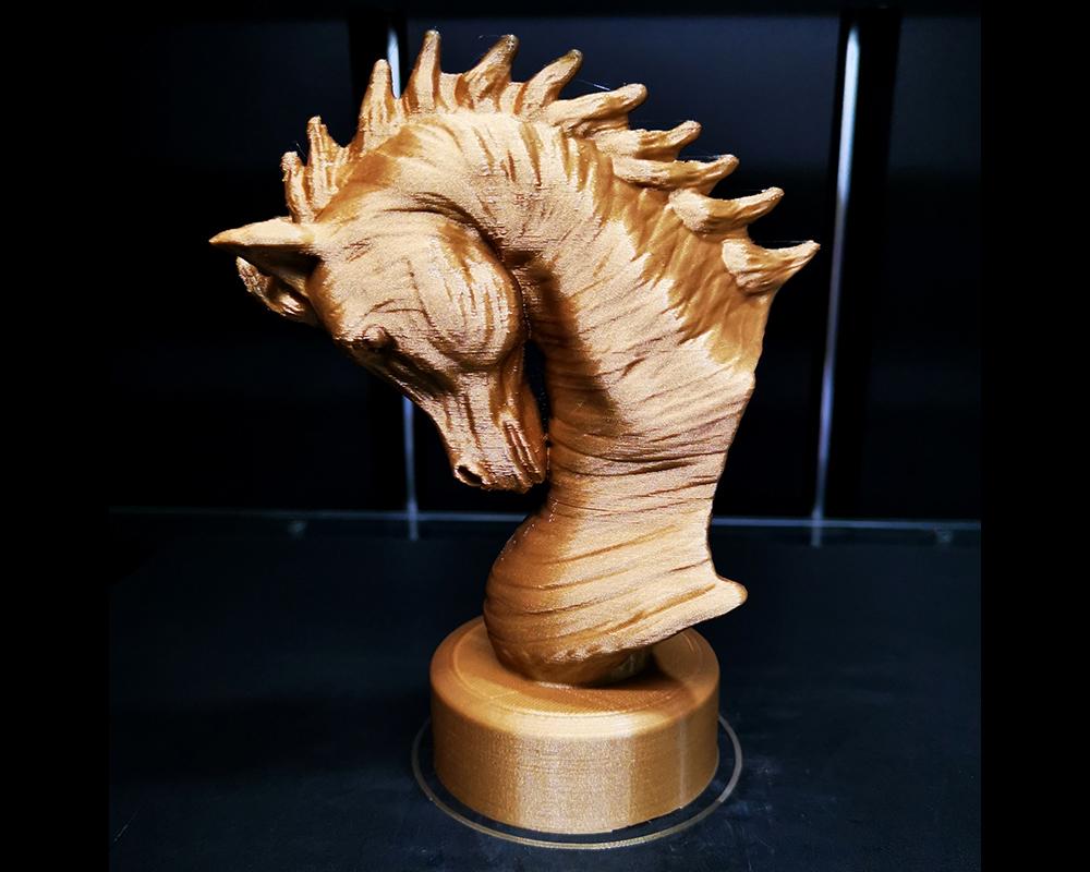 Arabian_Horse_Bust-2.jpg Download free STL file Arabian Horse Bust • 3D printing object, Double_Alfa_3D