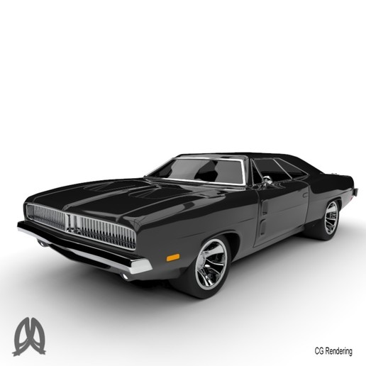 Charger_4.jpg Download free STL file Dodge Charger 1969 • Model to 3D print, Double_Alfa_3D