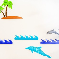 Download free 3D printing designs Marine Life Wall Project, Double_Alfa_3D