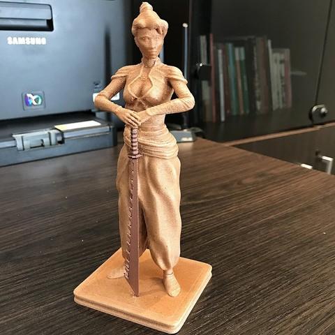 IMG_2863.JPG Download free STL file Samurai Woman • 3D printable design, Double_Alfa_3D