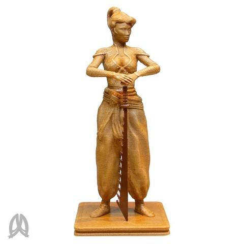 Samurai_Woman.jpg Download free STL file Samurai Woman • 3D printable design, Double_Alfa_3D