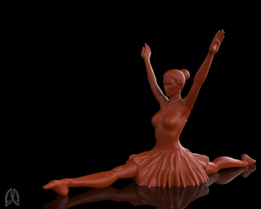 Ballet_Dancer_1.jpg Download free STL file Ballet Dancer II • 3D print object, Double_Alfa_3D