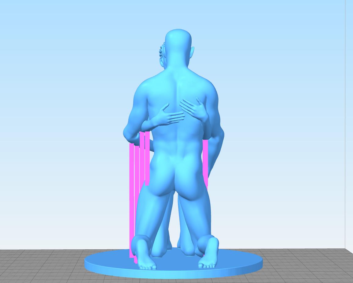 Love-Support-Back2.jpg Télécharger fichier STL gratuit Amour • Design pour impression 3D, Double_Alfa_3D