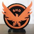 Download free 3D printer designs The Division Logo, Double_Alfa_3D