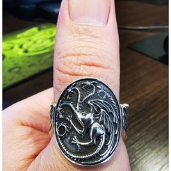 Download free 3D print files Game of Thrones - Targaryen Ring, Double_Alfa_3D