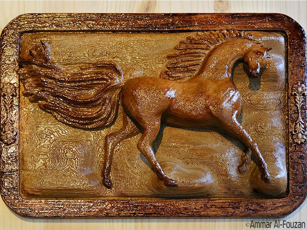 ArabianHorse.JPG Download free STL file Arabian Horse Wall Mount • 3D printer design, Double_Alfa_3D