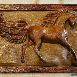 ArabianHorse.JPG Download free STL file Arabian Horse Wall Mount • 3D printer design, Double_Alfa_3D