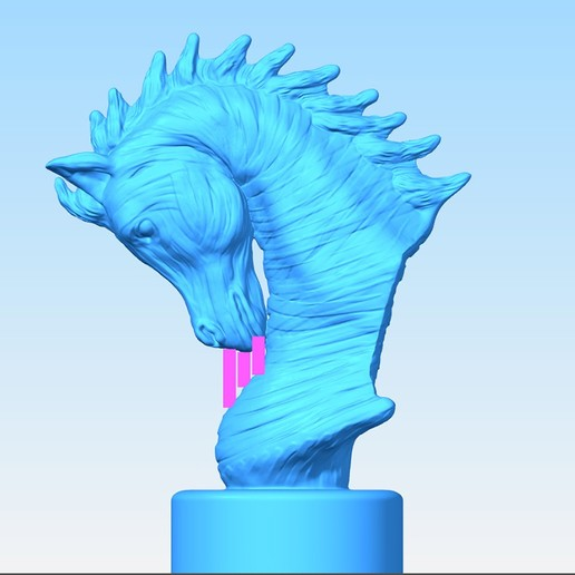 Arabian_Horse_Bust-1.jpg Download free STL file Arabian Horse Bust • 3D printing object, Double_Alfa_3D