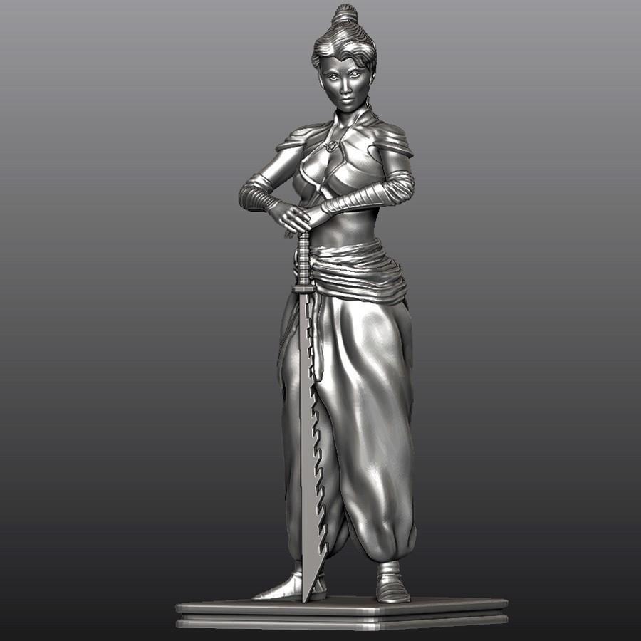 SW_1.jpg Download free STL file Samurai Woman • 3D printable design, Double_Alfa_3D