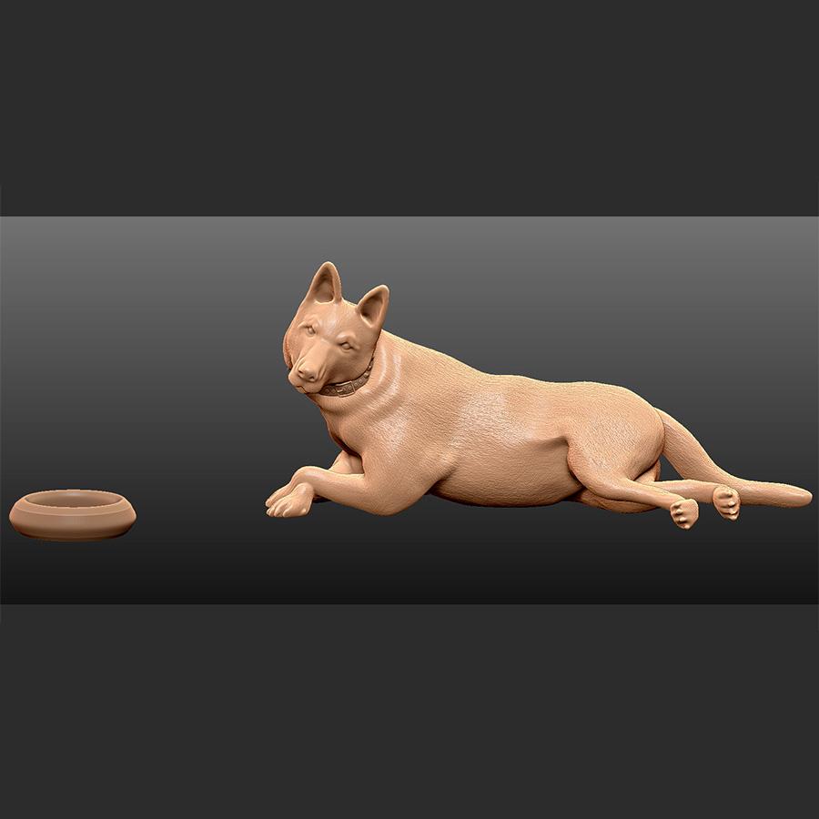 GM_2.jpg Download free STL file German Shepherd • 3D printable template, Double_Alfa_3D