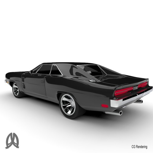 Charger_5.jpg Download free STL file Dodge Charger 1969 • Model to 3D print, Double_Alfa_3D