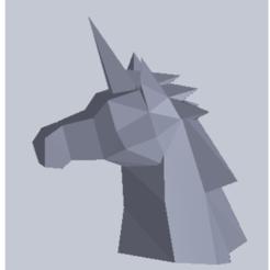 Impresiones 3D gratis Unicornio-Cabeza, leamsicreaciones