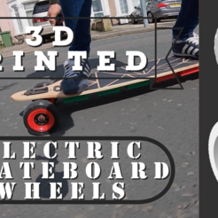 Télécharger fichier 3D gratuit Roues pour moteur moyeu 90mm Skateboard, 3DFactory