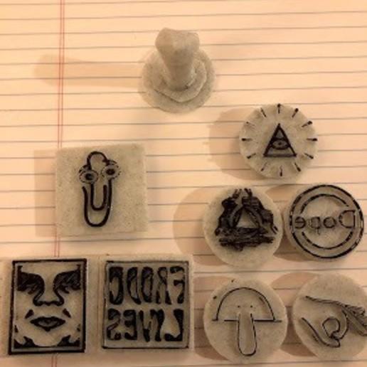 Télécharger fichier STL gratuit Timbres • Design imprimable en 3D, B1nkfish