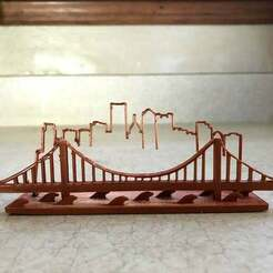 IMG_1884.jpg Download free STL file Pittsburgh Skyline • 3D print object, B1nkfish