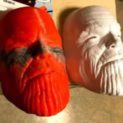 Descargar modelo 3D gratis Máscara Thanos, B1nkfish