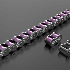 components.ansi.40.package.rodrigotresd.render.post.png Télécharger fichier STL 40 chaîne à rouleaux standard (Ansi) • Plan pour imprimante 3D, rodrigotresd