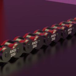 STANDARD.ROLLER.CHAIN.ANSI.200.png Download STL file STANDARD ROLLER CHAIN - ANSI 200 • 3D printing model, rodrigotresd