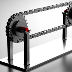Descargar archivos 3D Conjunto de cadena de transmisión y engranajes - ANSI 60, rodrigotresd