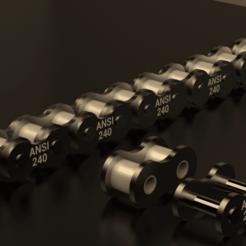 STANDARD.ROLLER.CHAIN.ANSI.240--.png Download STL file STANDARD ROLLER CHAIN - ANSI 240 • 3D printer design, rodrigotresd