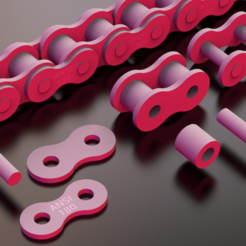 STANDARD.ROLLER.CHAIN.ANSI.180.png Download STL file STANDARD ROLLER CHAIN - ANSI 180 • Design to 3D print, rodrigotresd