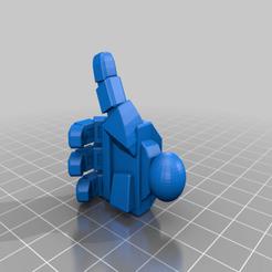 Hand_Thumbs_Up.png Télécharger fichier STL gratuit Commandant communiste de l'espace Mech • Modèle pour impression 3D, Xplosiv