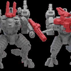 Imprimir en 3D gratis Comandante Mech Paquete de accesorios 2, Xplosiv