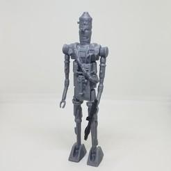 Download 3D printer designs Star Wars .stl IG-88 .3D action figure .OBJ Kenner style., Tasjo78