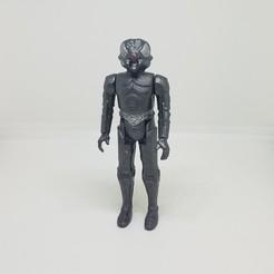 Télécharger fichier imprimante 3D Star Wars .stl Zuckuss .Figurine 3D .OBJ style Kenner., Tasjo78