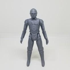 Download 3D printer model Star-Wars C3PO Kenner Style Action figure STL OBJ 3D, Tasjo78